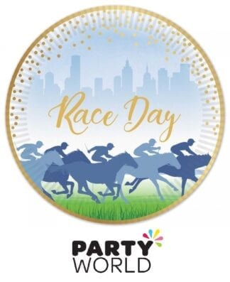 Horse Racing Race Day 9in Paper Plates Foiled Gold (8)