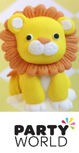 Lion Party Cake Topper With Pick