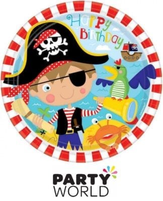 Little Pirate Party 9in Paper Plates (8)