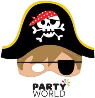 Little Pirate Party Masks With Elastic Straps (8)