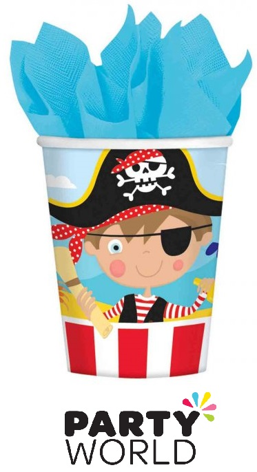 Little Pirate Party Paper 9oz Cups (8pk)