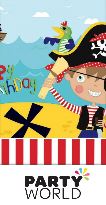 Little Pirate Party Plastic Tablecover