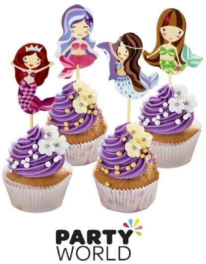 Mermaid Party Pick Cake Toppers (24)
