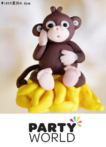 Monkey Party Cake Topper With Pick
