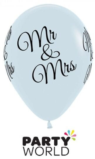 Mr And Mrs Black On White Latex Balloons (6)