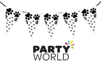 Paw Print Party Flag Banner