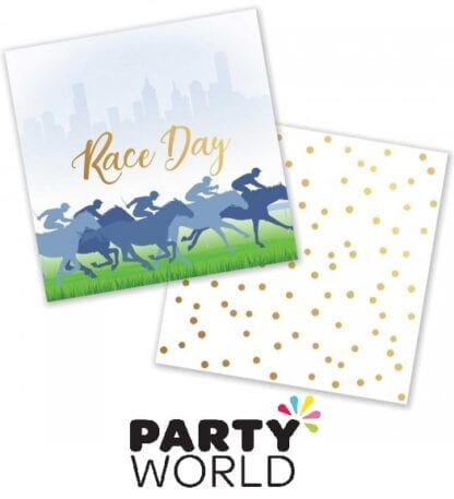 Race Day Hot Stamped Beverage Napkins Pack of 50