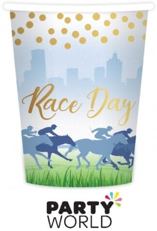 Race Day Hot Stamped Paper Cups Pack of 8