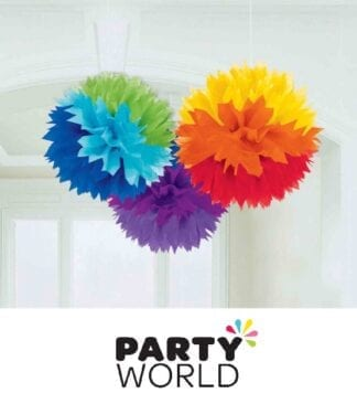 Rainbow Fluffy Tissue Party Decorations (3)
