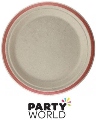 Rose Gold Rim Sugarcane Eco Party Plates 7in (10)