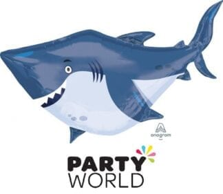 Shark Party Ocean Buddies Shaped Foil Balloon