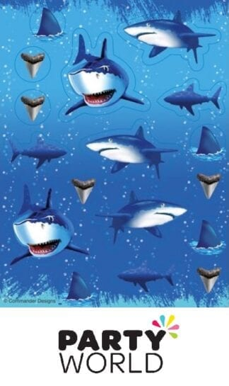 Shark Splash Party Stickers Assorted Designs