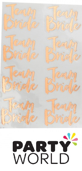 Team Bride Hens Party Rose Gold Temporary Tattoos (16)