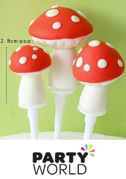Toadstool Party Cake - Cupcake Toppers (3)