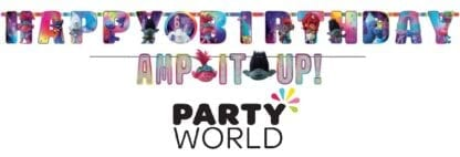 Trolls Party World Tour Add -An-Age Jumbo Letter Banner Kit