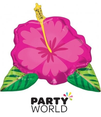 Tropical Hibiscus Party Flower Supershape Foil Balloon