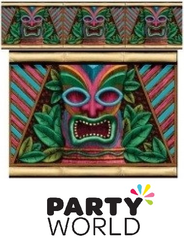 Tropical Tiki Party Scene Setters Room Roll