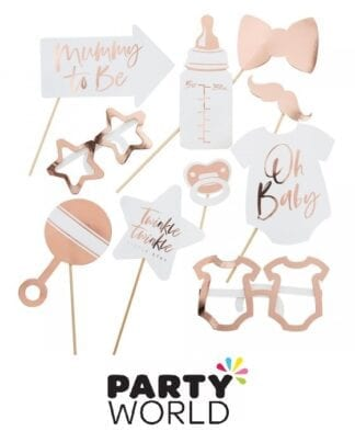 Twinkle Little Star Rose Gold Foil Photo Props (10)