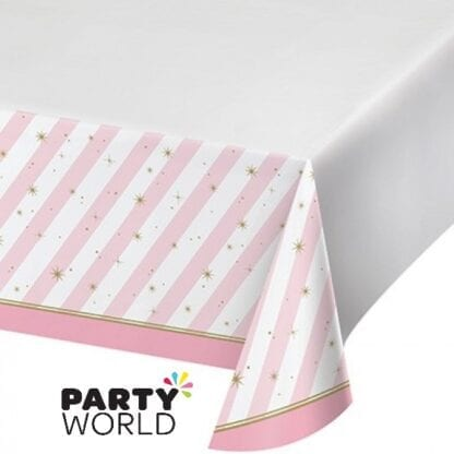 Twinkle Toes Party Tablecover Plastic Border Print 137cm x 259cm