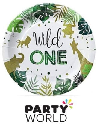 Wild One Jungle Safari Party 9inch Paper Plates (10)