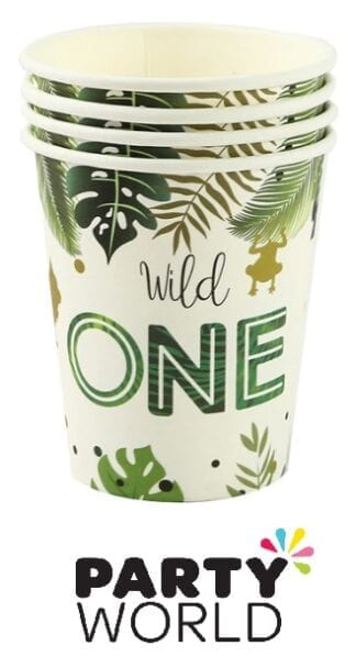 Wild One Jungle Safari Party 9oz Paper Cups (10)