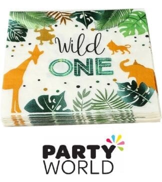 Wild One Jungle Safari Party Luncheon Napkins (20)