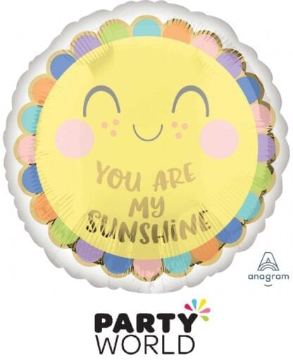 You Are My Sunshine Round Party Foil Balloon