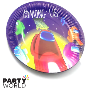 among us paper plates