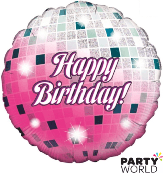 birhday disco ball foil balloon