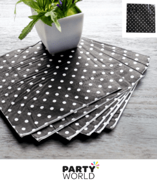 black dotty napkins