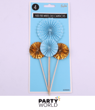 blue & gold fan wheel pinheels picks