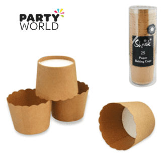 brown kraft paper baking cups
