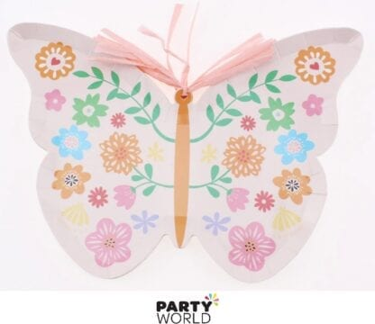 butterfly shaped paper plates