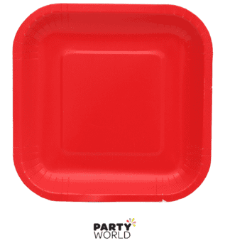 cherry red paper plates