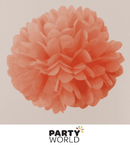 coral paper puff ball