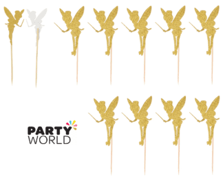gold fairy cupcake toppers