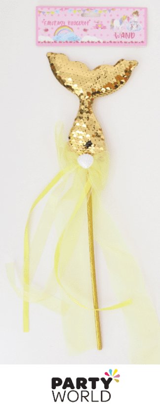 gold mermaid tail wand