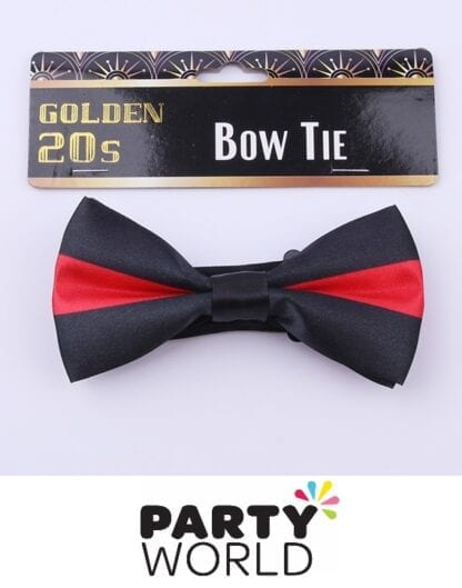 red & black bow tie