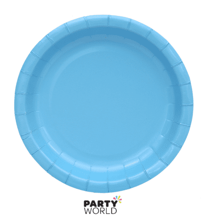 sky blue paper plates 7inch