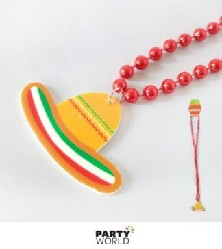 sombrero necklace mexican costume