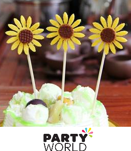 sunflower cupcake picks