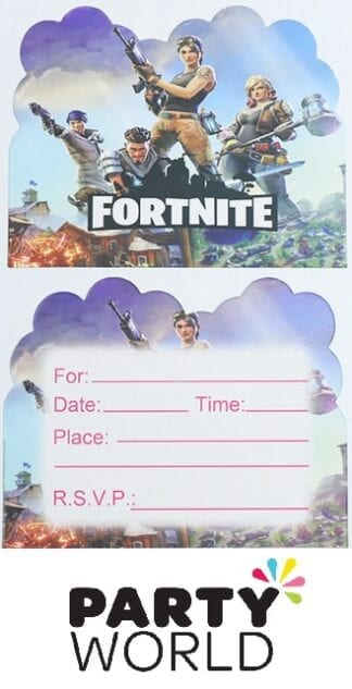Fortnite Battle Royal Party Invitations (10pk)