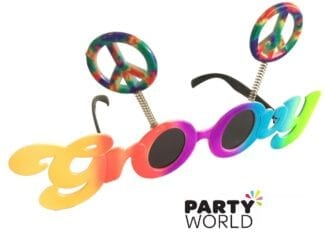 Groovy 60's Party Peace Sign Glasses