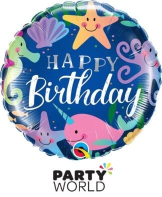Happy Birthday Under The Sea Foil Balloon