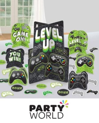 Level Up Gaming Party Table Decorations