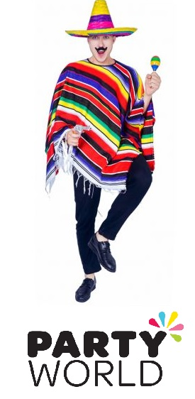 Mexican Adult Deluxe Poncho