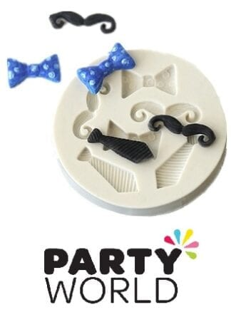 Moustaches, Bowties And Neckties Mini Silicone Mould