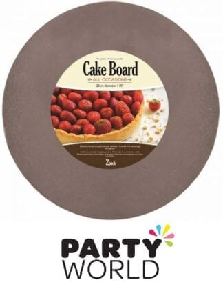 Silver Round 25cm Cake Boards (2pcs)