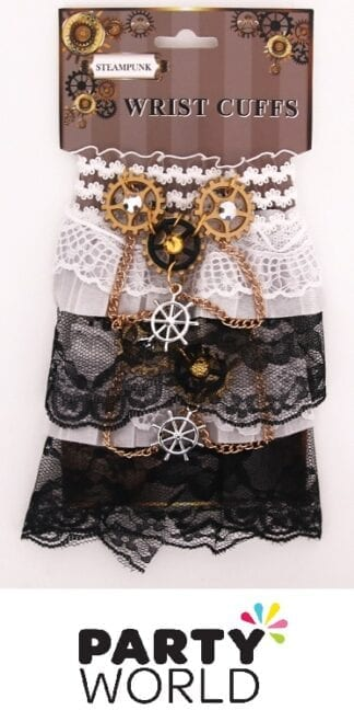 Steampunk Party Lace Wrist Cuffs (1pair)