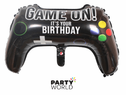 game on controller shaped foil balloon